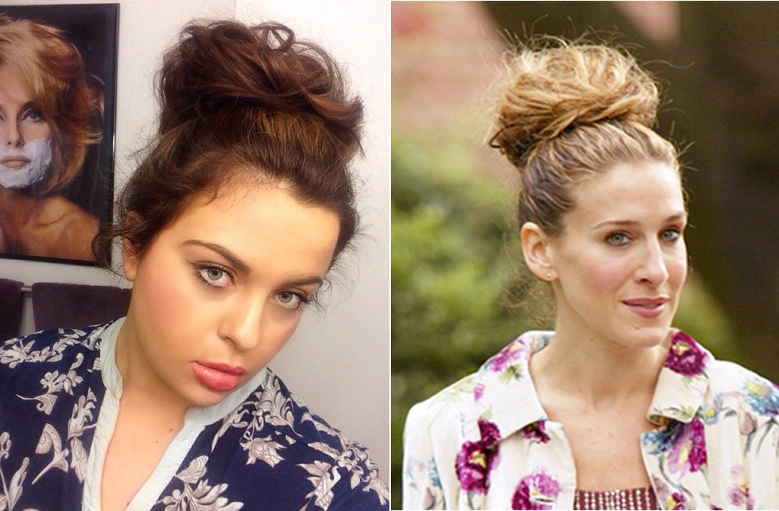 I Recreated Carrie Bradshaw S 5 Signature Hair Looks Because Her