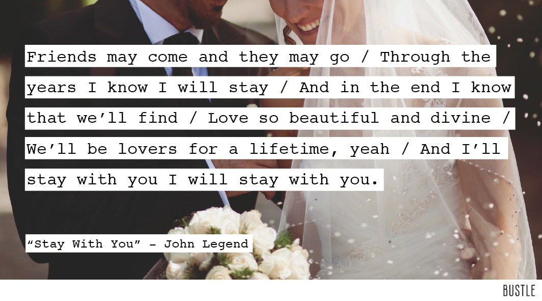 12 Wedding Song Lyrics That Will Help You Choose Your First