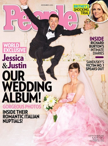 e7fad8b6bf027 9 Reasons Colored Wedding Dresses Rock, As Proven By Gwen Stefani, Sarah  Jessica Parker, And More Celebrity Brides