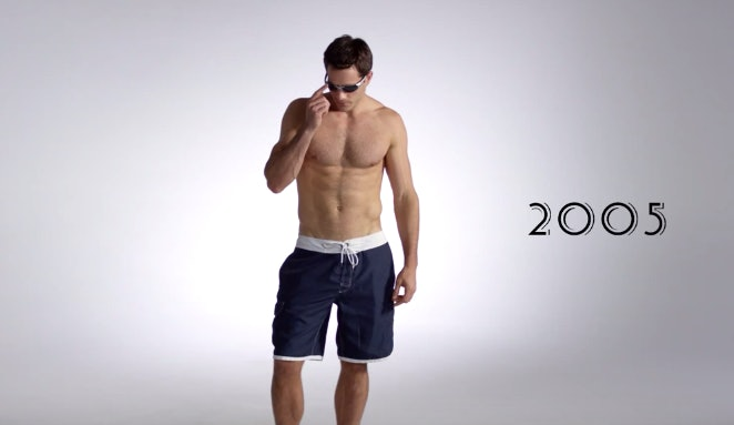 24ced1006069d Men's Swimwear Has Evolved Over 100 Years, From One-Piece Suits To Speedos  — VIDEO