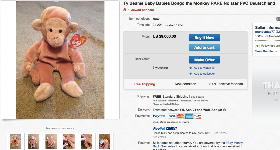 How Much Are Beanie Babies Worth? The Princess Diana Bear Is