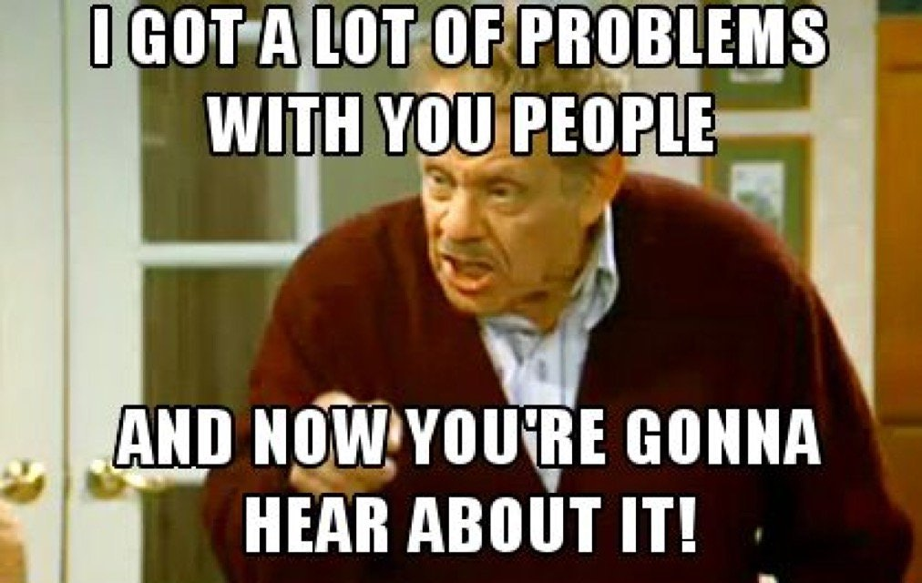 Image result for frank costanza festivus airing of grievances
