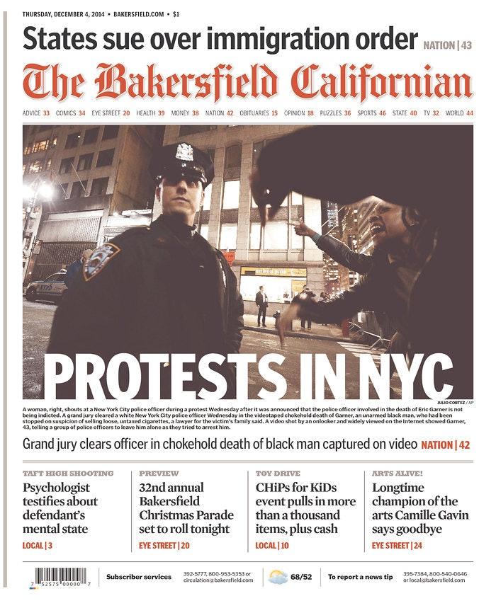 17 Eric Garner Newspaper Front Pages That Perfectly Capture