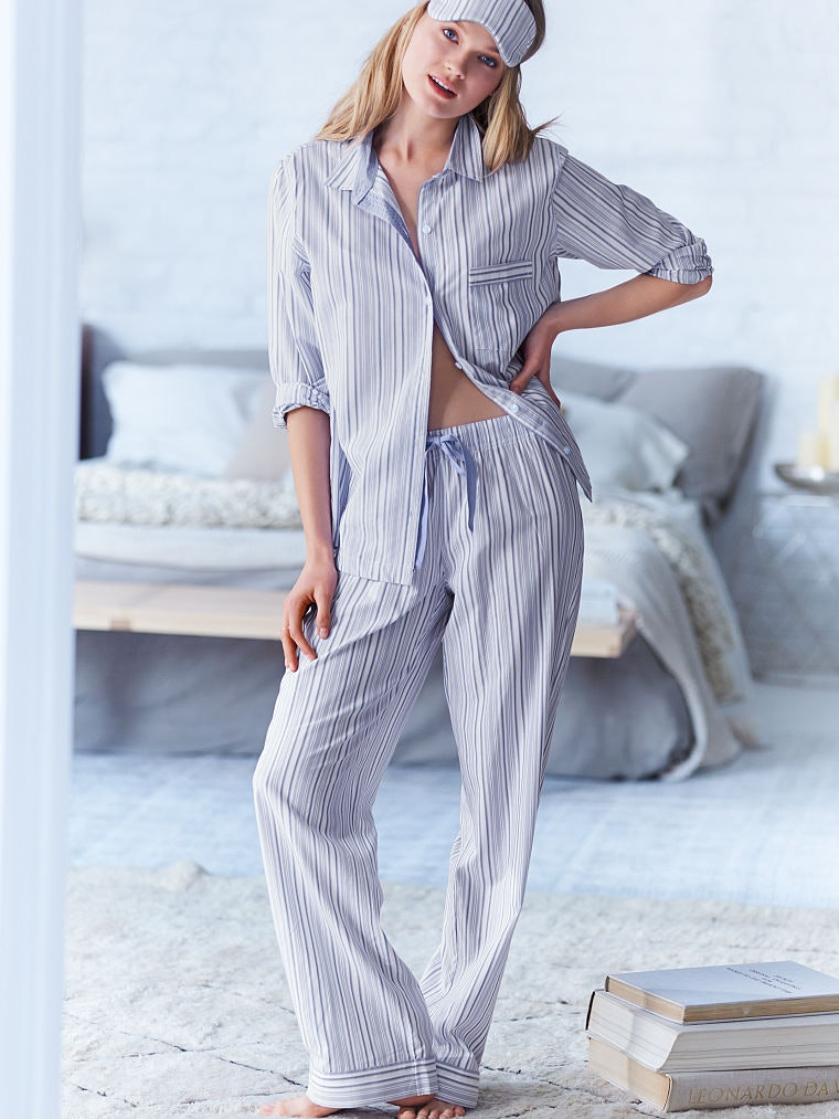 New Victoria/'s Secret COTTON MAY-FAIR Pajama Set Size M