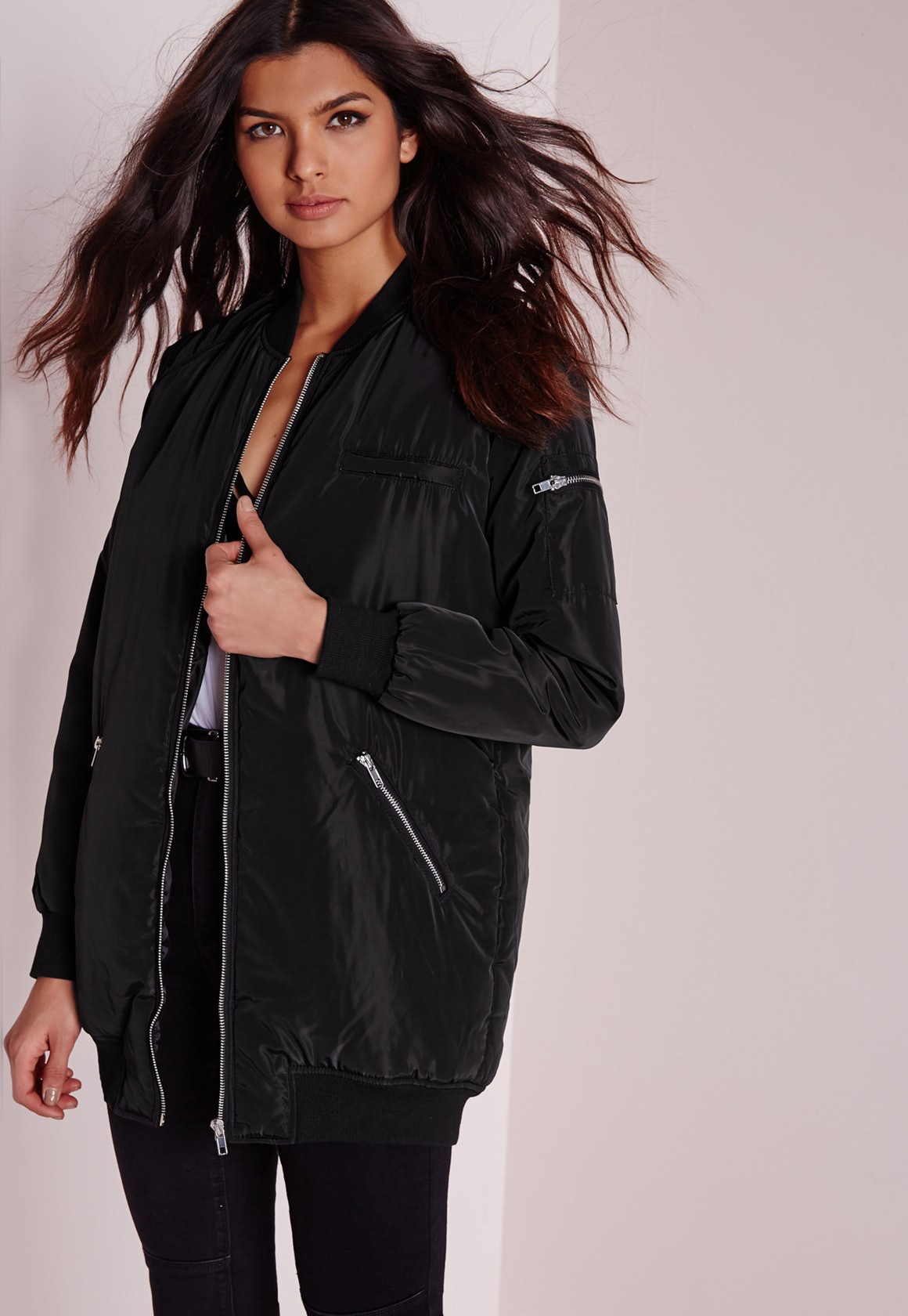 ee8a2ea5e Where To Buy Kylie Jenner's Quilted Bomber Jacket From Snapchat — PHOTOS