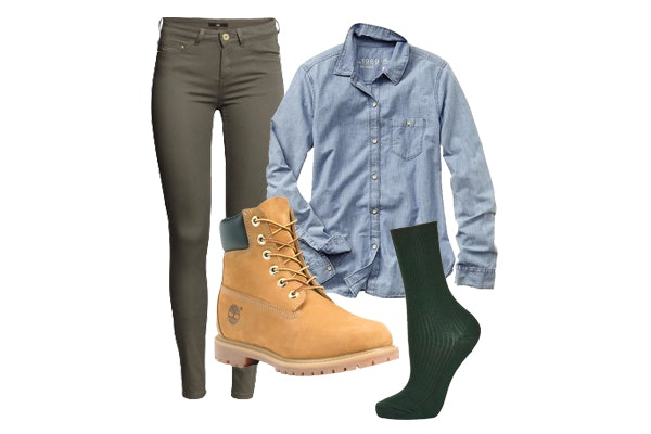74239857448 North West Owns Fall Fashion In Timberland Boots and Cargo Green ...