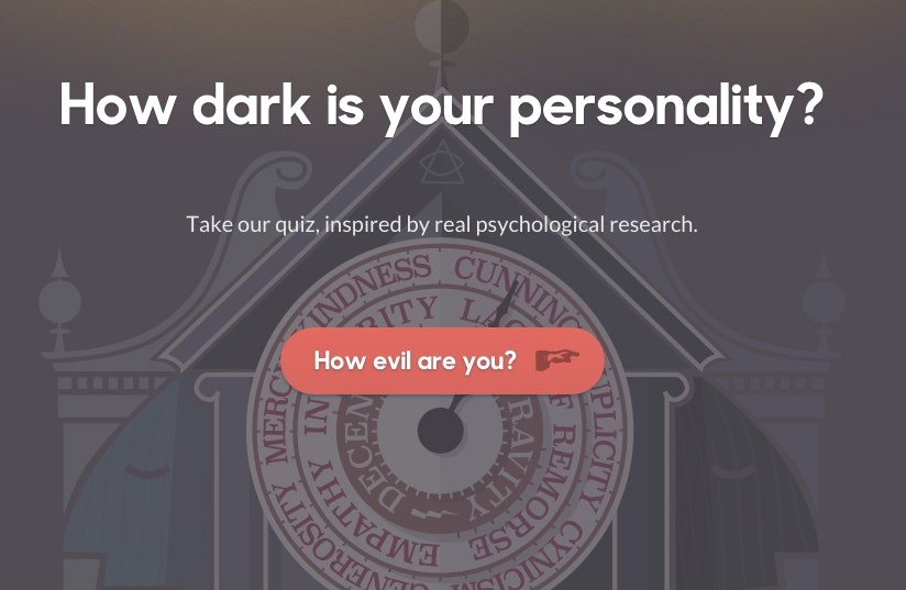 This Dark Triad Personality Test Will Tell You What Your Terrified