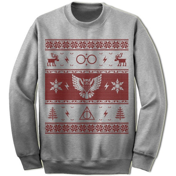 10 literary ugly christmas sweaters to make your holiday parties bookish and bright - Harry Potter Ugly Christmas Sweater