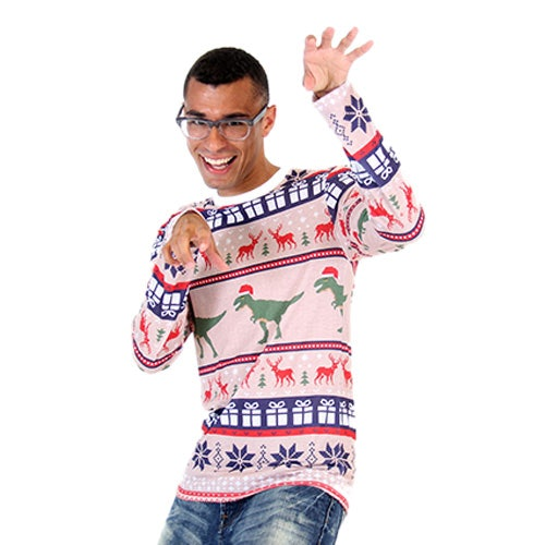 12 cheap ugly christmas sweaters for the 12 days of christmas - Ugly Christmas Sweater Dinosaur