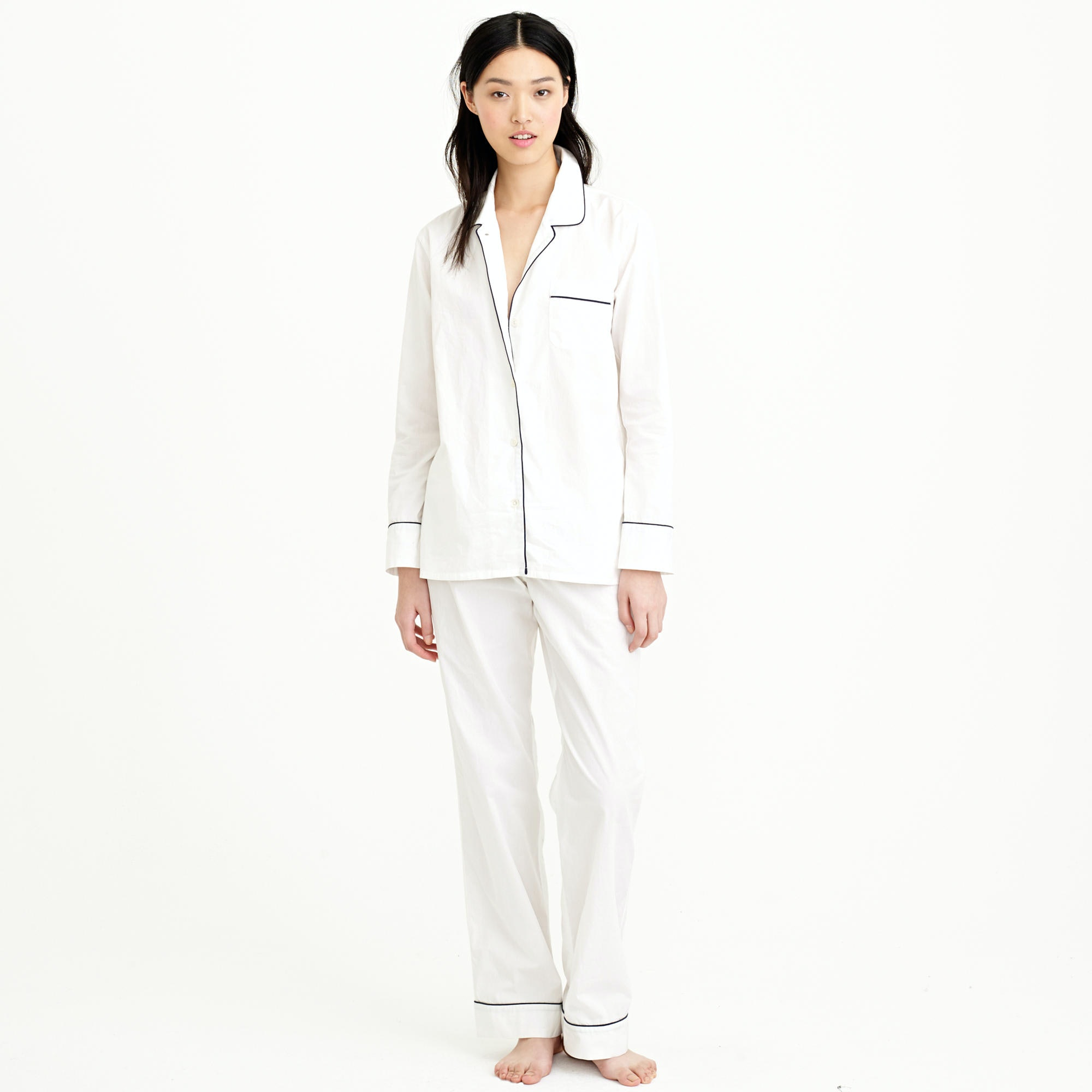 the cat shop s long cotton sleeved sets pajama most comfortable pima mirabelle model pajamas comforter luxe