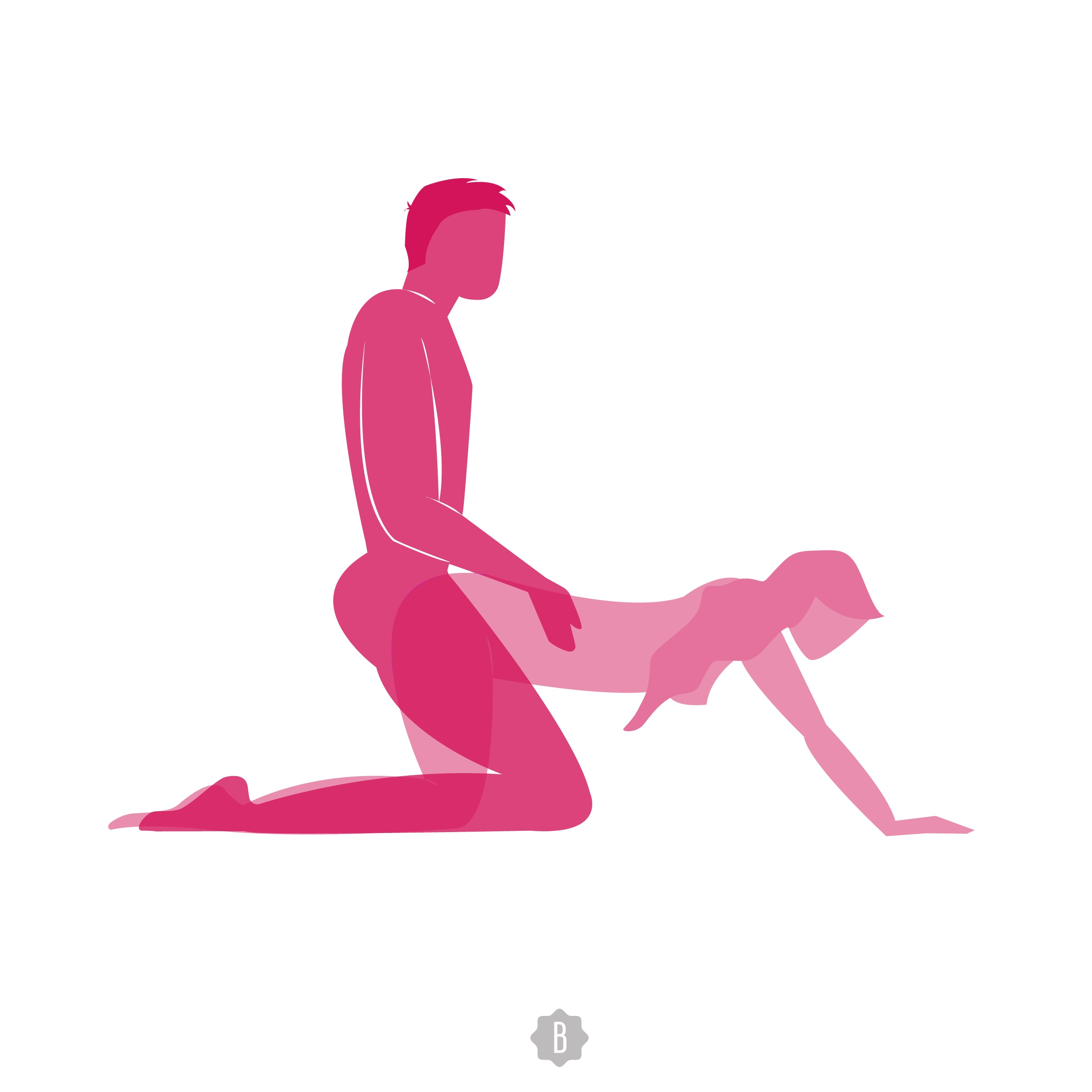Legs behind shoulder sex position