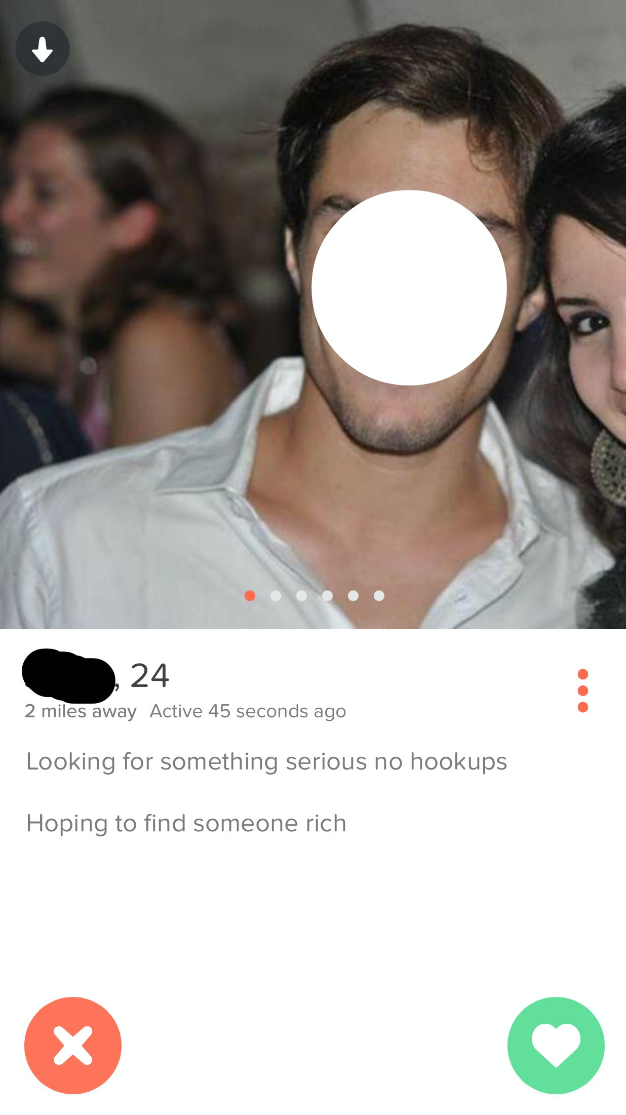 What not to write on a hookup profile