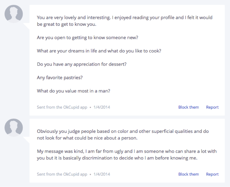 okcupid auto message
