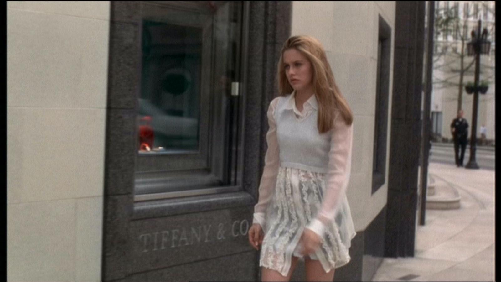 Clueless Calvin Klein White Dress