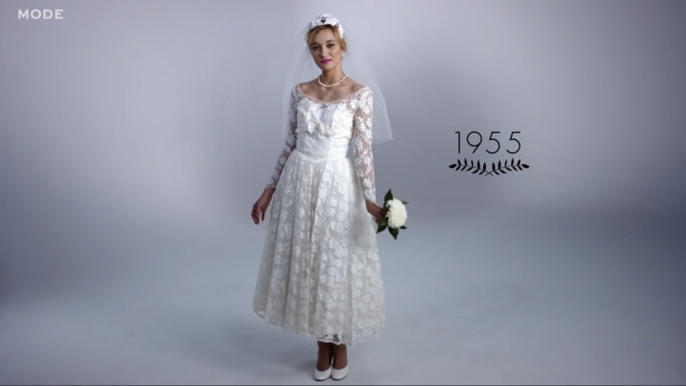 100 Years Of Wedding Gowns Shows That Some Bridal Styles Are
