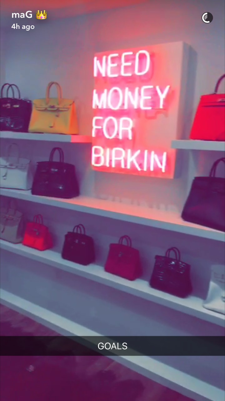 Kylie Jenner Shares Kris Jenners Birkin Bag Closet Its Serious Goals PHOTOS