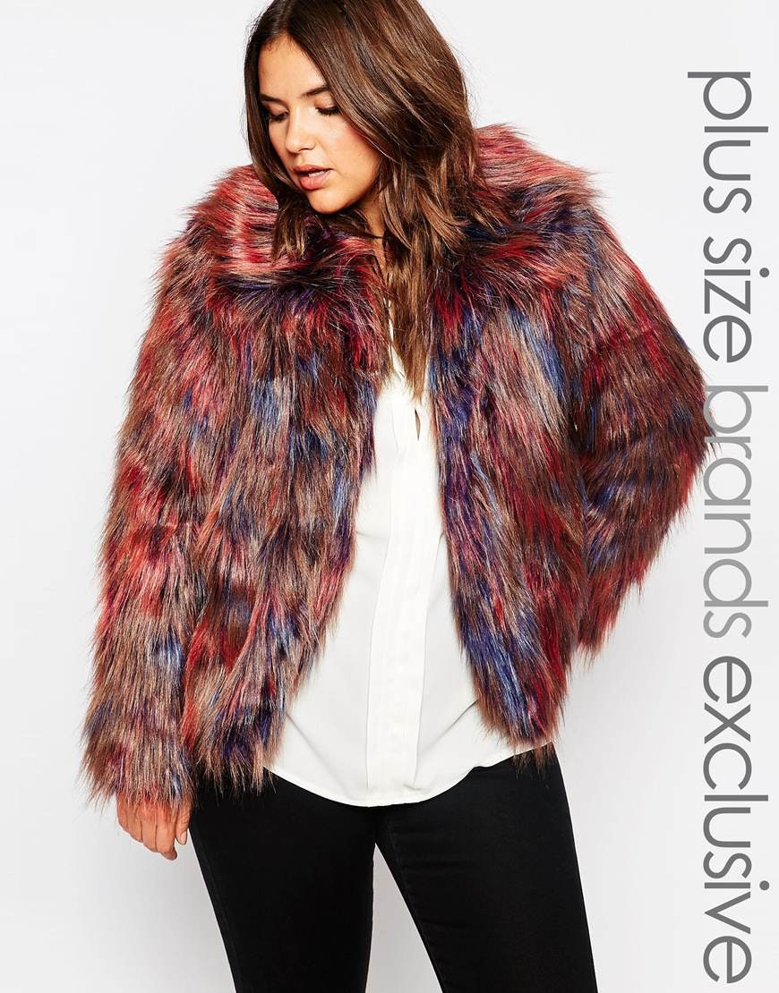 f5ad8d710 17 Plus Size Faux Fur Coats To Help You Channel Your Inner Cookie ...
