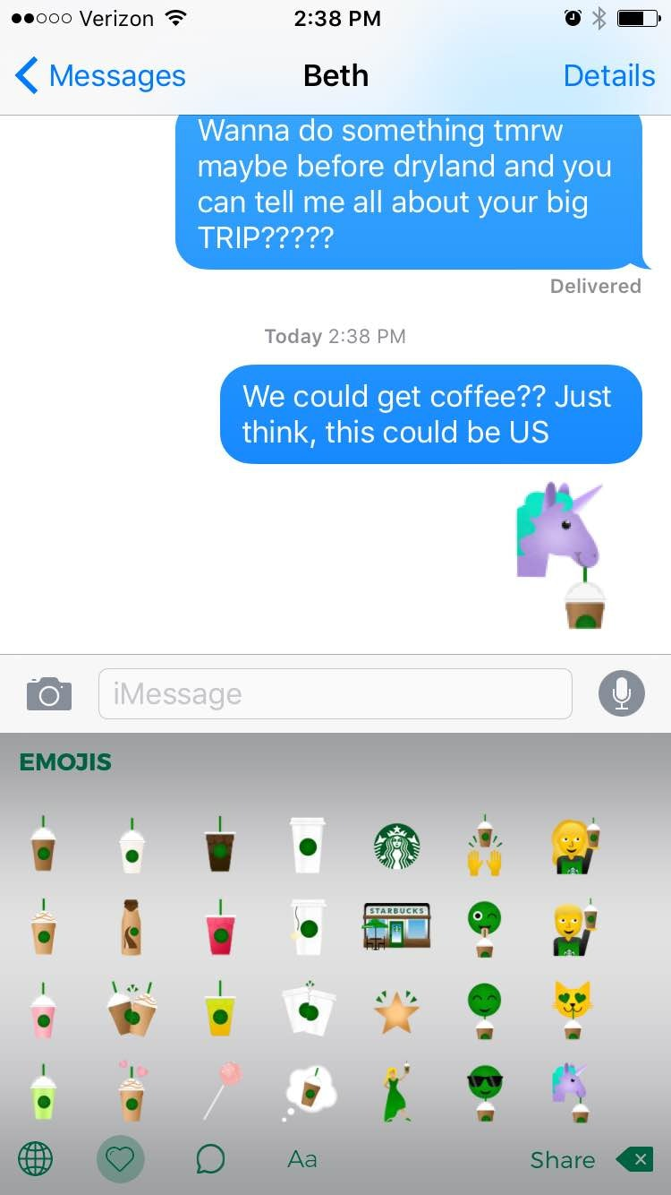 How To Use The Starbucks Emoji Keyboard & Fill Your World With