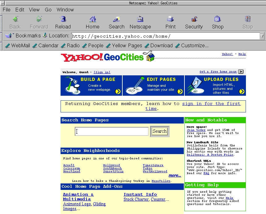 Oldweb Today Lets You Surf The Web '90s-Style, So Here's