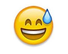 Sweat emoji text