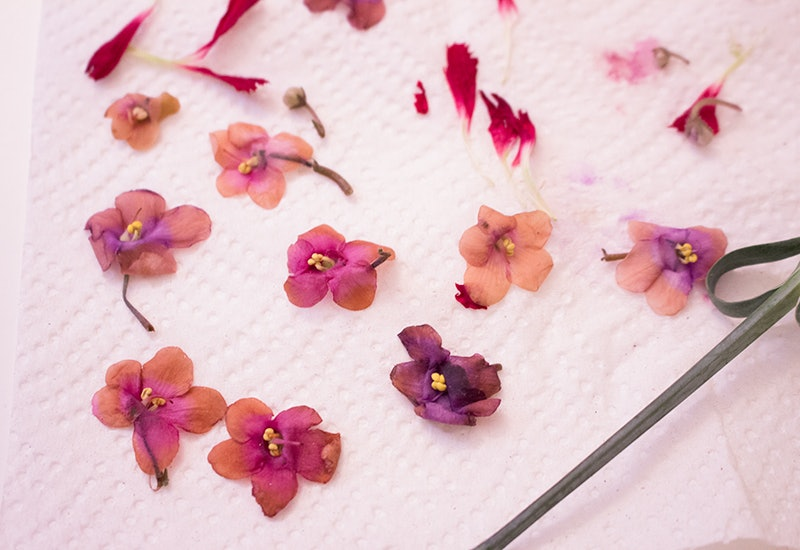 48ce4317e How To Make Temporary Tattoos Out Of Dried Flowers, Because Metallic Ones  Are Sooo Last Coachella