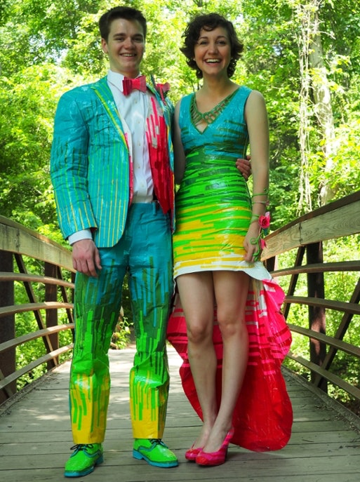 These Students Made Their Prom Looks Out Of Duct Tape And Yes, It Is ...