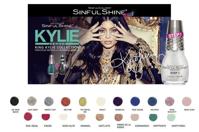 How Much Is The Kylie Jenner x Sinful Colors Collection? Each ...