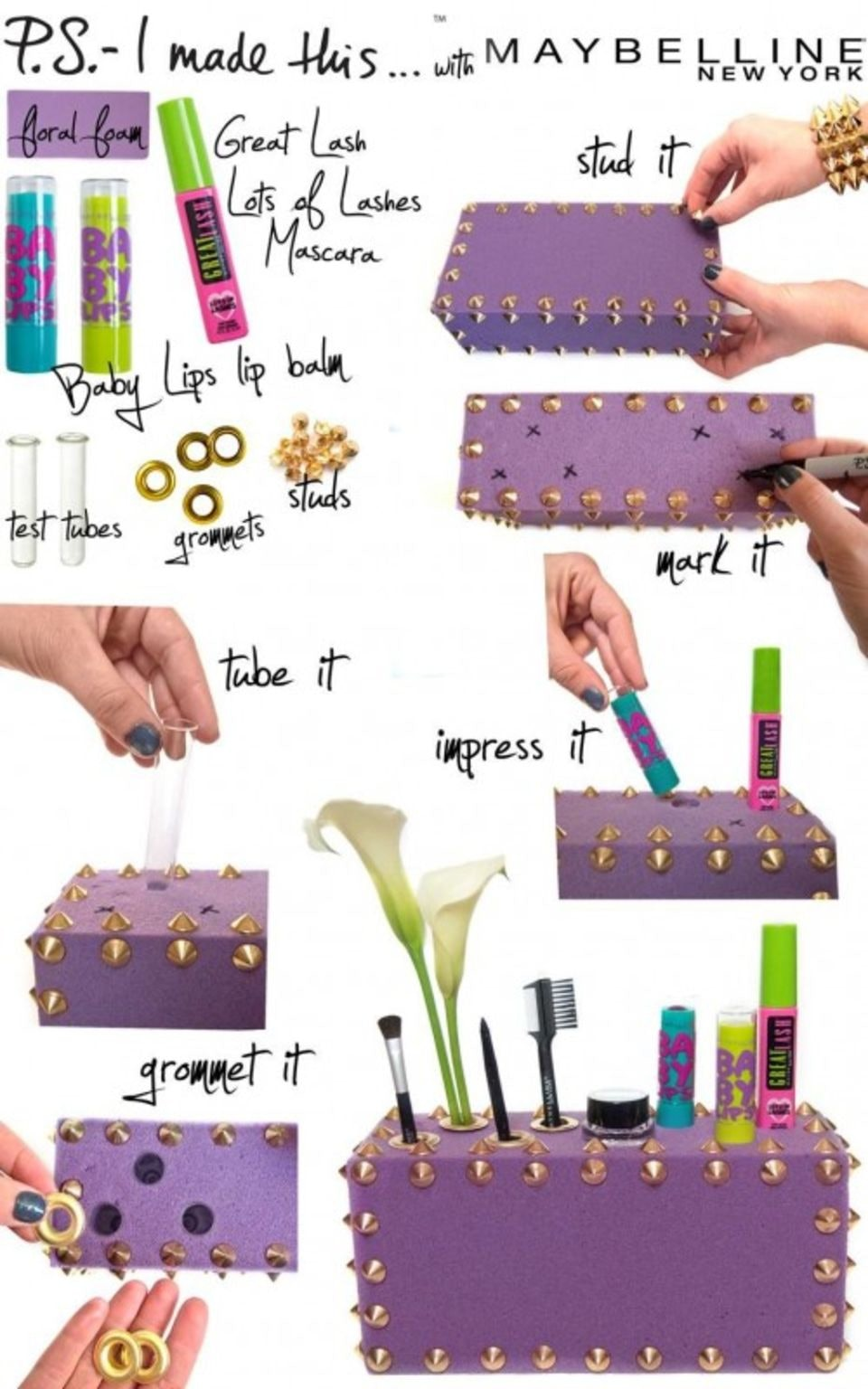 14 DIY Makeup Organizer Ideas That Are So Much Prettier Than Those Stacks Of Plastic Boxes  sc 1 st  Bustle & 14 DIY Makeup Organizer Ideas That Are So Much Prettier Than Those ...