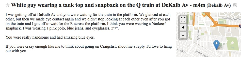 9 Craigslist Missed Connections That Will Make You Believe