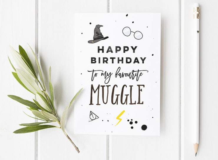 15 Harry Potter Inspired Birthday And Greeting Cards ...