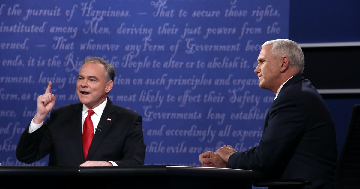 Tim Kaine's Eyebrows Are Already Winning The Vice