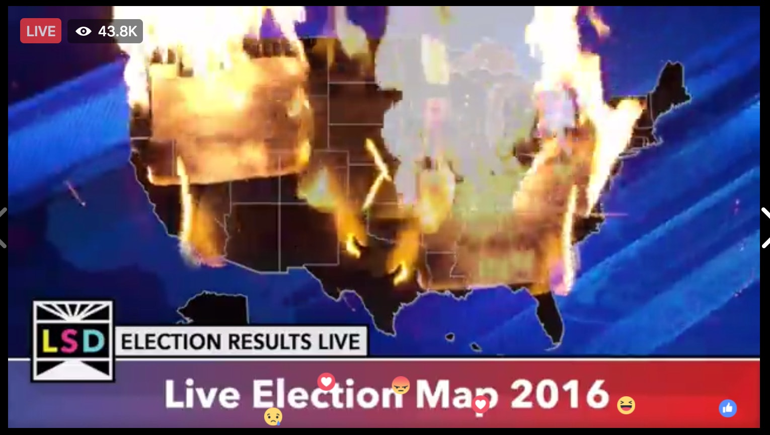 Check Out This Video Of An Electoral Map On Fire - Us electoral map fire