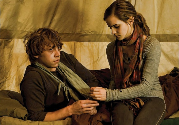Image result for ron/hermione
