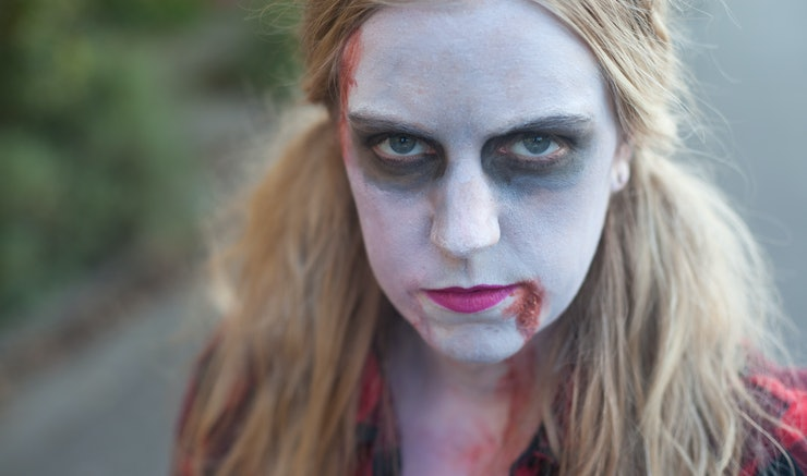 easy girl zombie makeup -#main