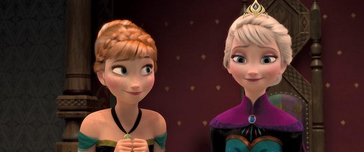 遠慮がちなアナと雪の女王・エルサとアナ