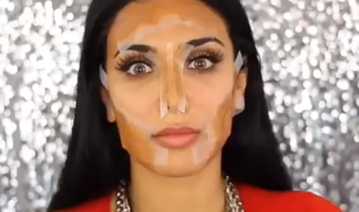 How to tape contour your face in just 3 simple steps video ccuart Images