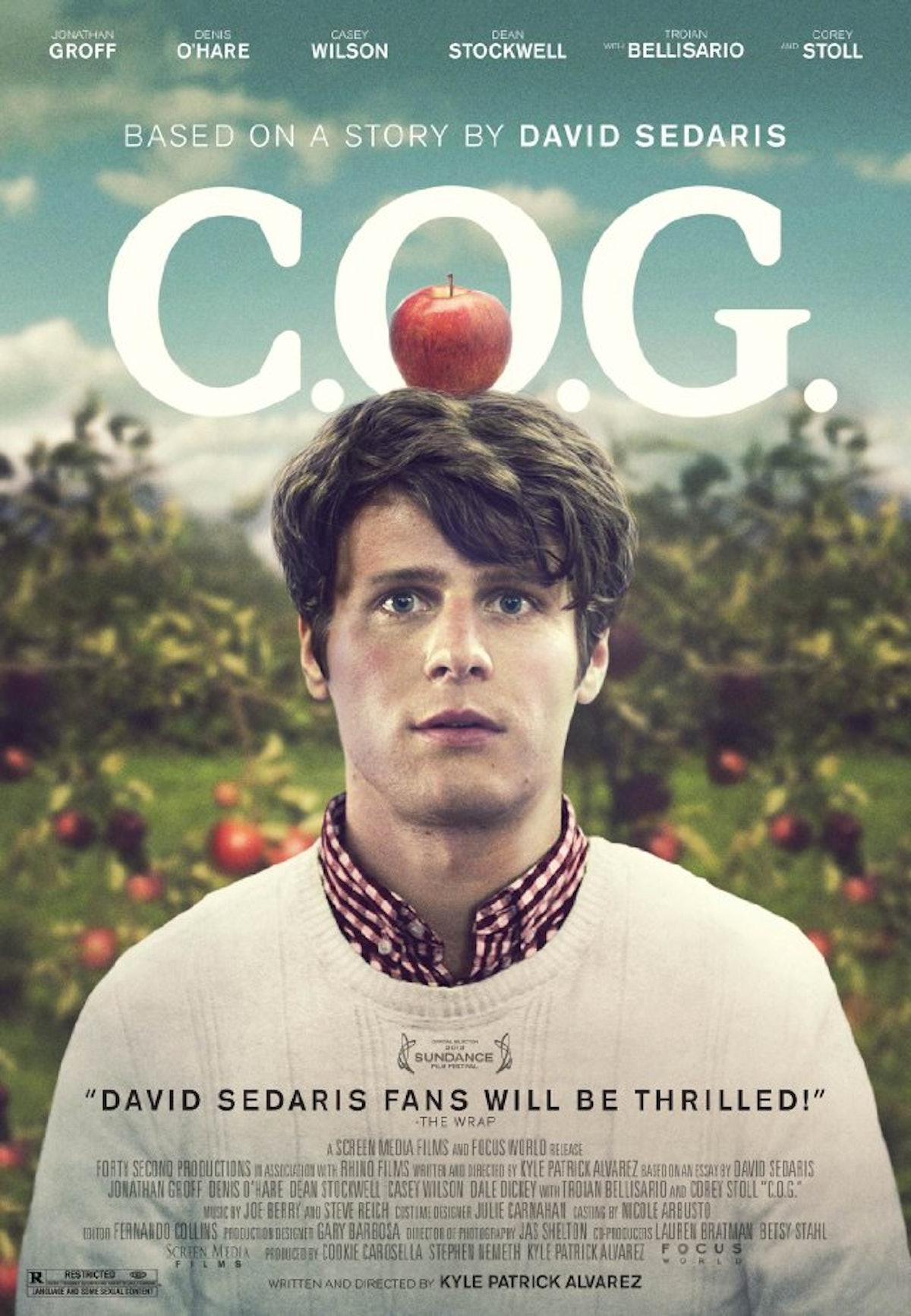 c.o.g. david sedaris essay A review of the film cog, adapted from an essay by david sedaris.