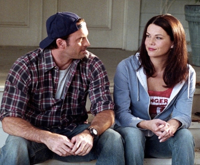 Image result for gilmore girls luke and lorelai