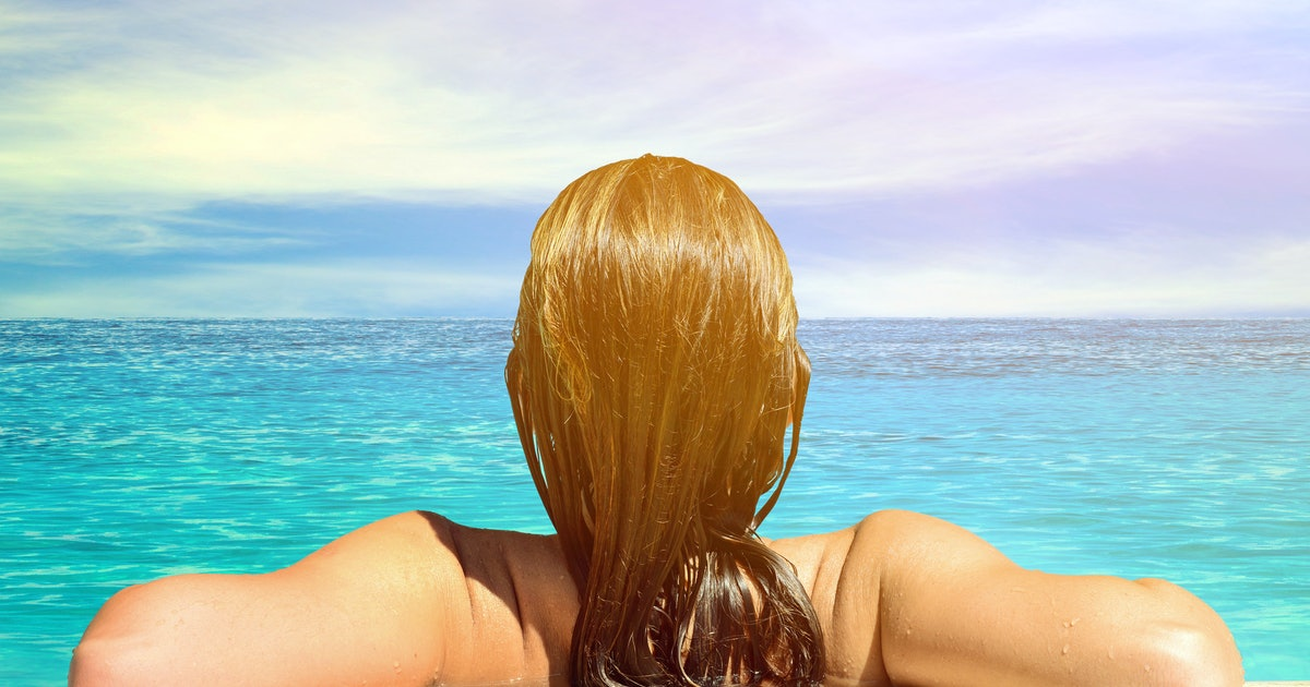 how to prevent your hair from turning green after swimming because it can put a damper on your. Black Bedroom Furniture Sets. Home Design Ideas