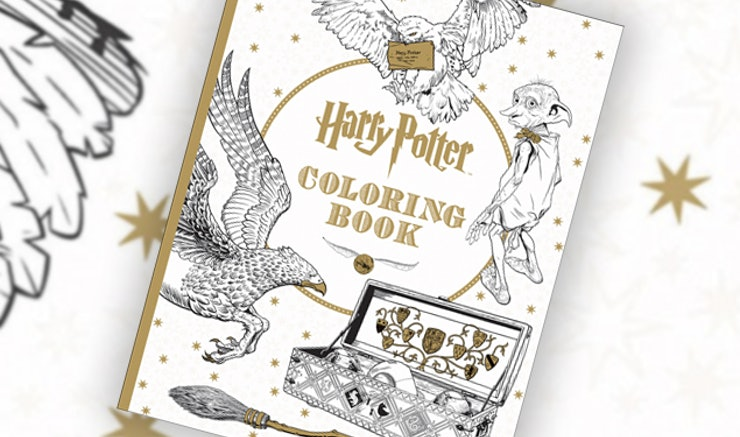 this harry potter coloring book for grownups is every bit as magical as hogwarts photos - Harry Potter Coloring Book