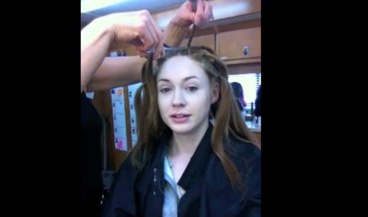 Fabulous Watch Guardians Of The Galaxys Karen Gillan Get Her Hair Shaved Hairstyles For Men Maxibearus