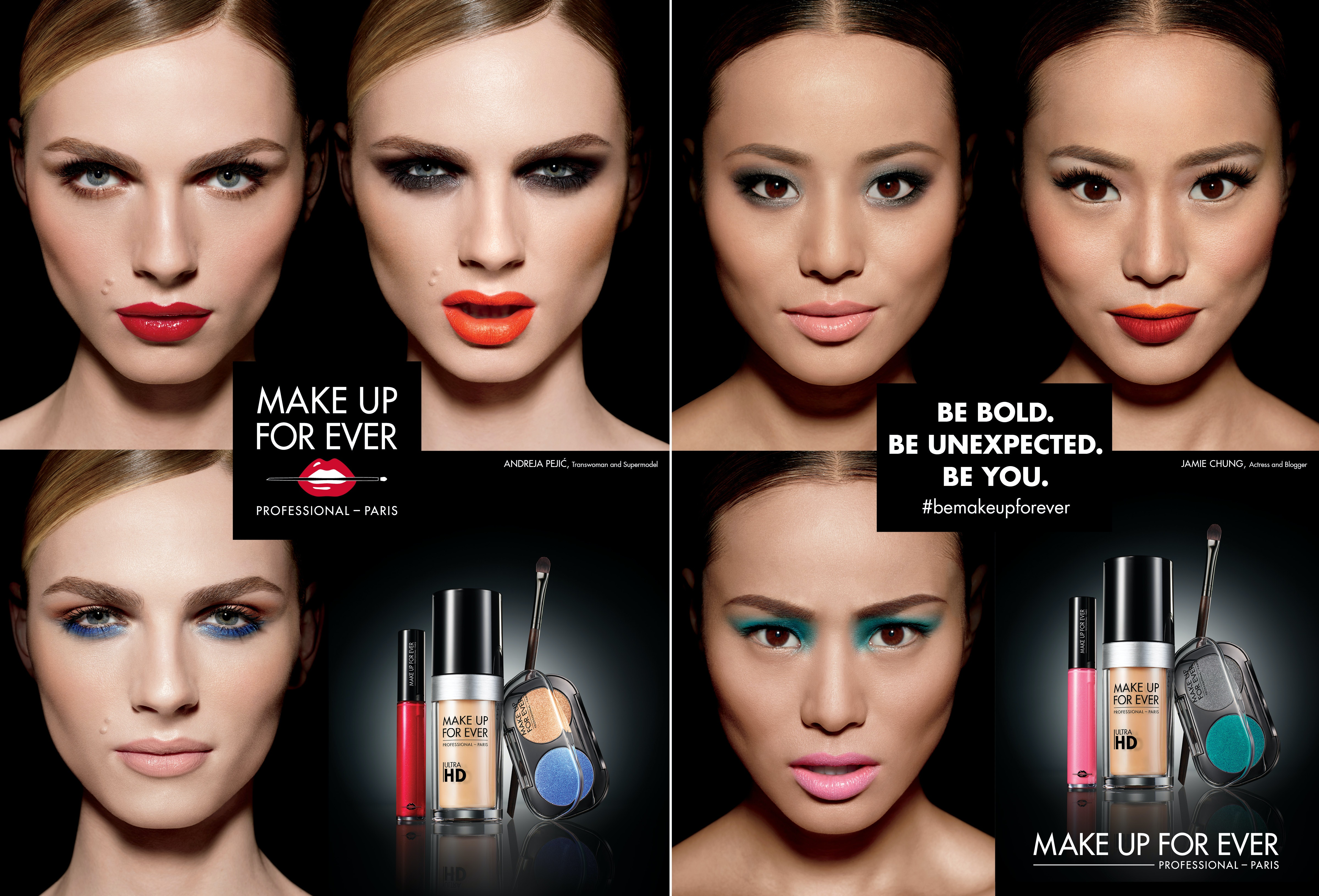makeup forever. andreja pejic \u0026 jamie chung partner with make up for ever, and it\u0027s the diverse beauty campaign we\u0027ve been waiting makeup forever