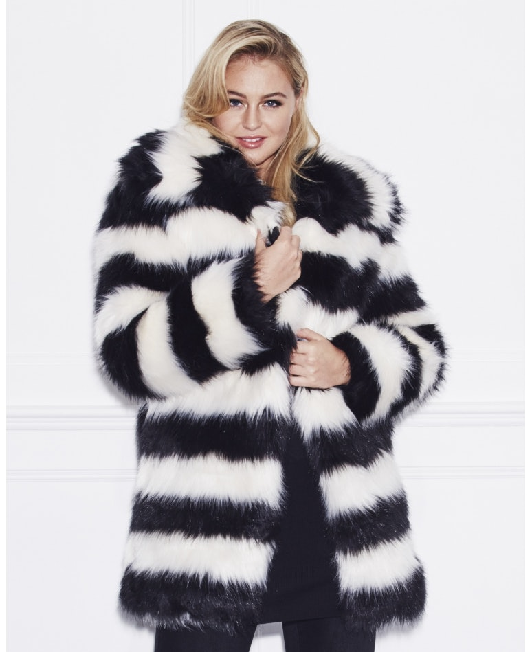 17 Plus Size Faux Fur Coats To Help You Channel Your Inner Cookie ...