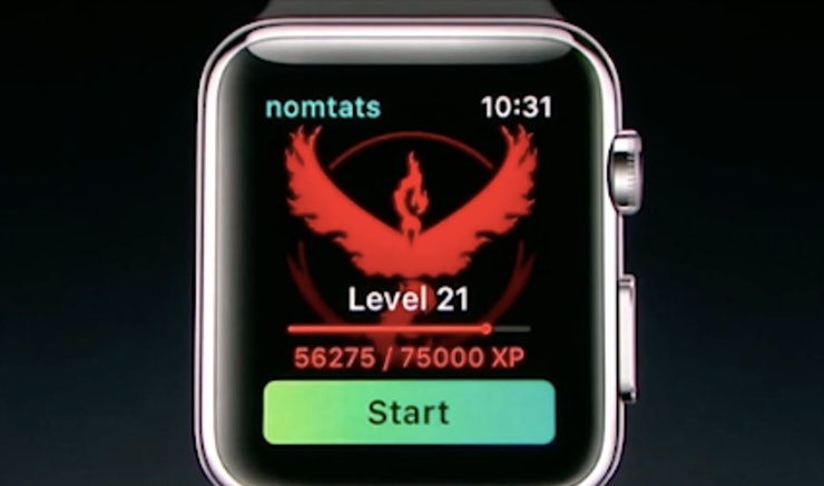 how to play pokemon go with apple watch