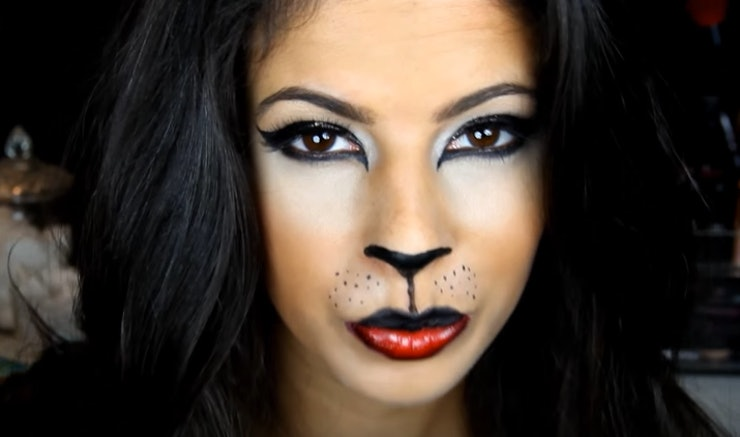 11 Easy Cat Halloween Makeup Tutorials For Every Type Of Kitty ...