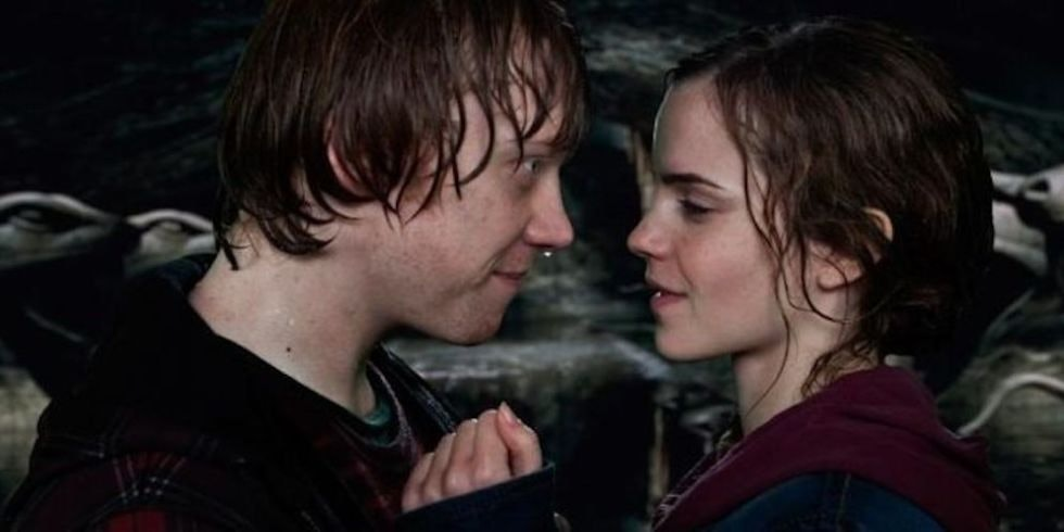 Image result for hermione and ron