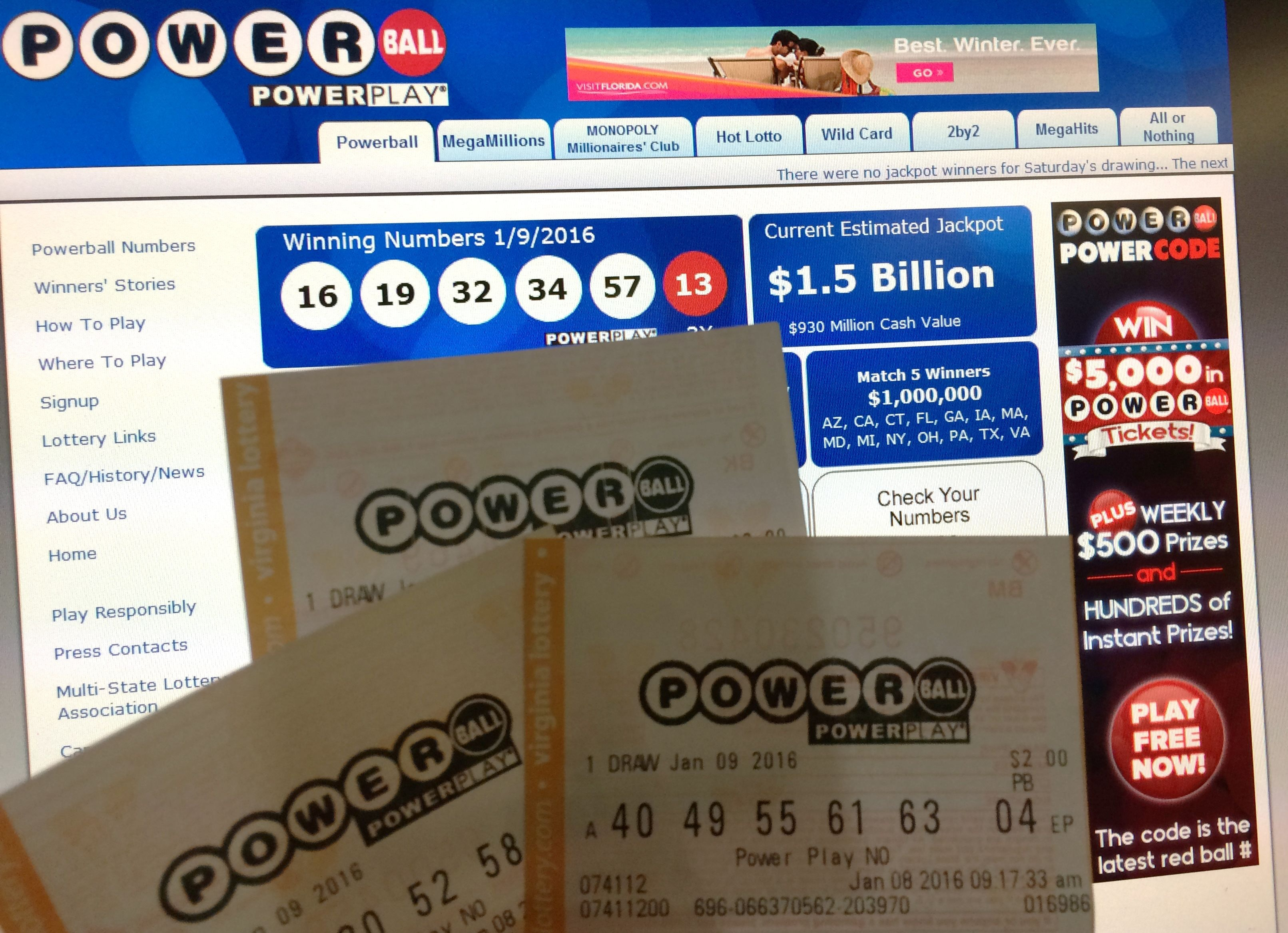 Powerball - Do Powerball Numbers Have To Be In Order The 1 5 Billion Payout Has A Lot Of People Curious