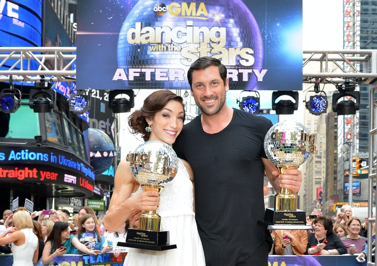 She S Engaged Dancing With The Stars Vet Meryl Davis Is: Meryl Davis & Maks Chmerkovskiy's Date In NYC Had Some