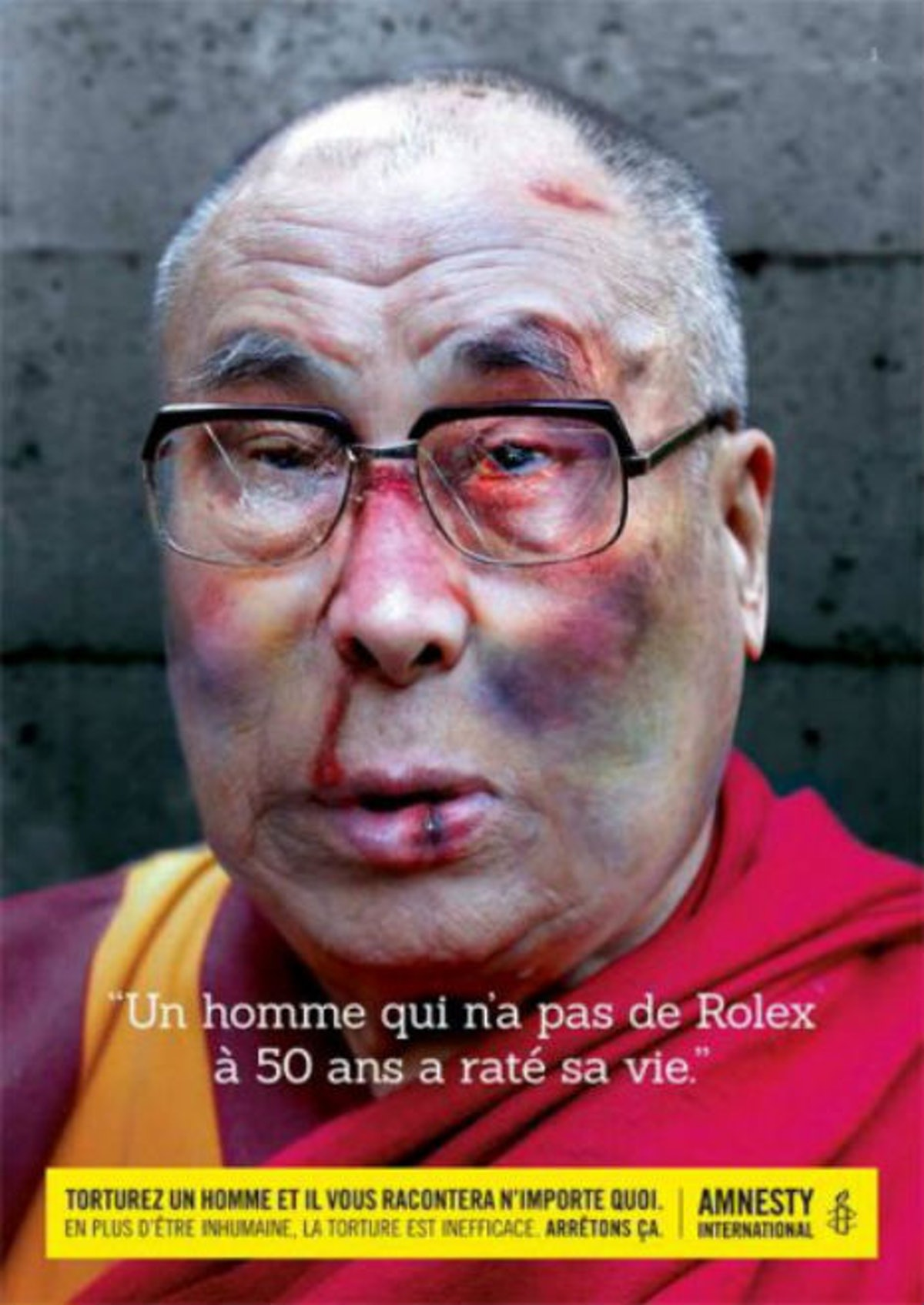 F 35 News >> Dalai Lama, Karl Lagerfeld, and Amnesty International Spotlight Political Torture In New Ad Campaign