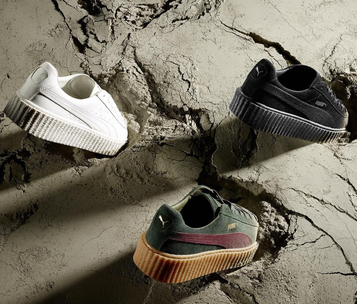 963b0a2c018 ... How Is The All-White Rihanna Puma Creeper Different  There Is One Thing  That ... Women s Shoes sneakers Puma Basket Creepers Glo Fenty ...